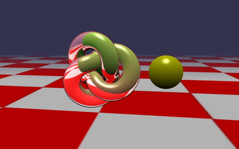 WebGL scene for refraction demo