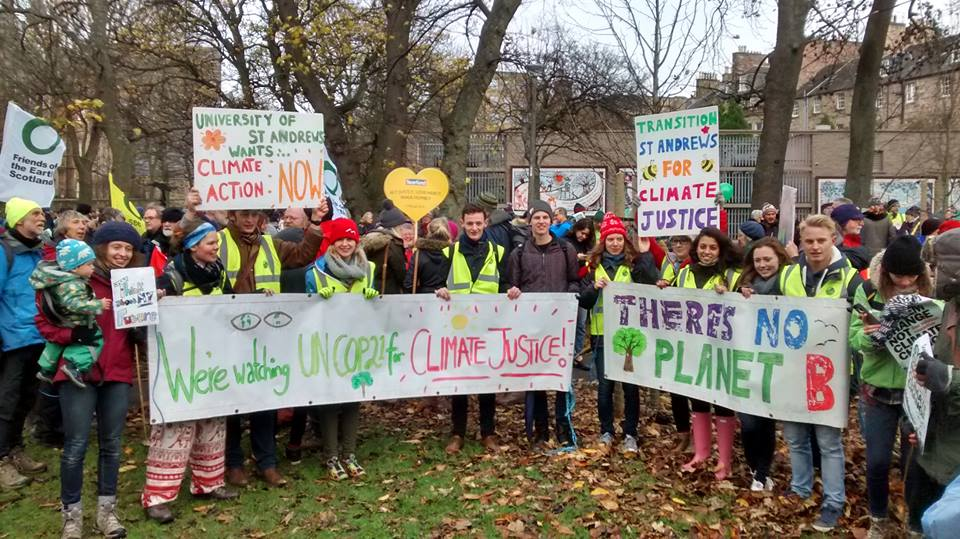 Students at Scotland's Climate March