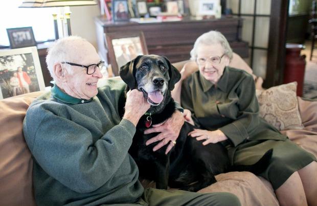 Joseph and Pat love their dog Shultz