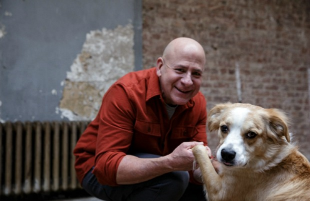 Joel Silverman and his rescue dog Duchess