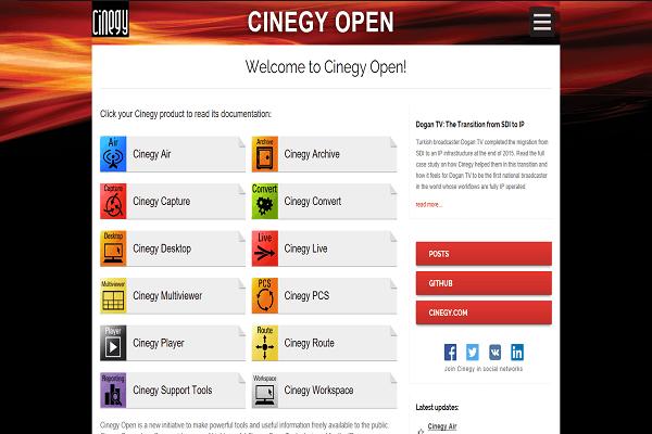 Cinegy Open documentation project