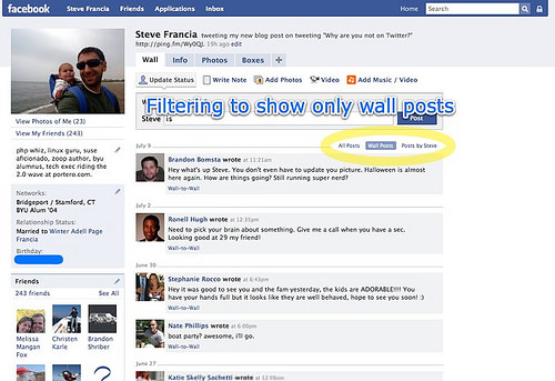 Facebook 2 | Filtering wall posts