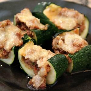 Stuffed zucchini for dogs