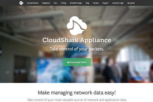 CloudShark Appliance homepage and documentation