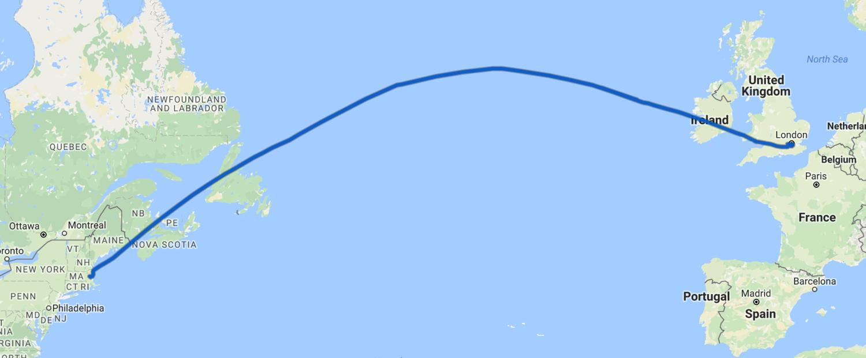 Flight path.