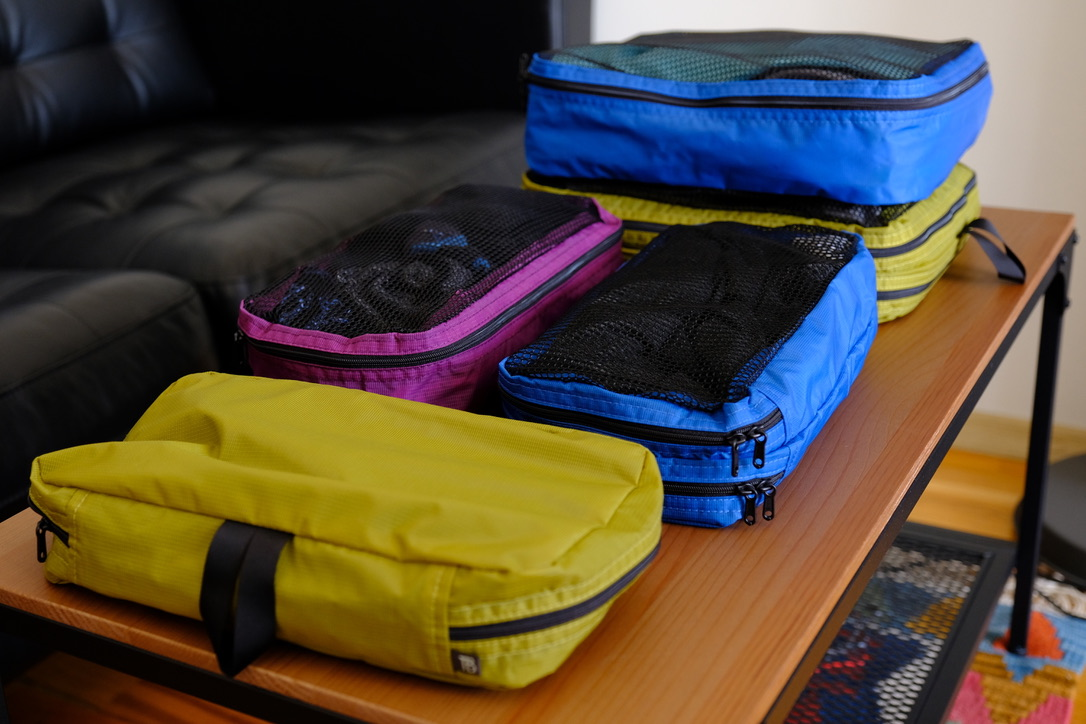 Packing cubes exclusively designed and built for the Aeronaut 30