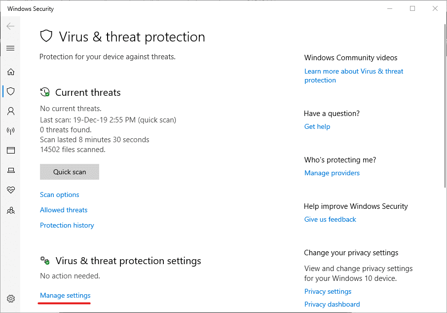 windows-exception