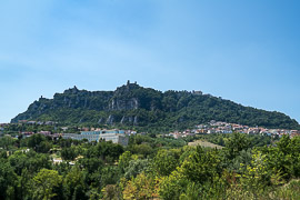 The main city of San Marino is on this hill. Borgo Maggiore, San Marino, 2017