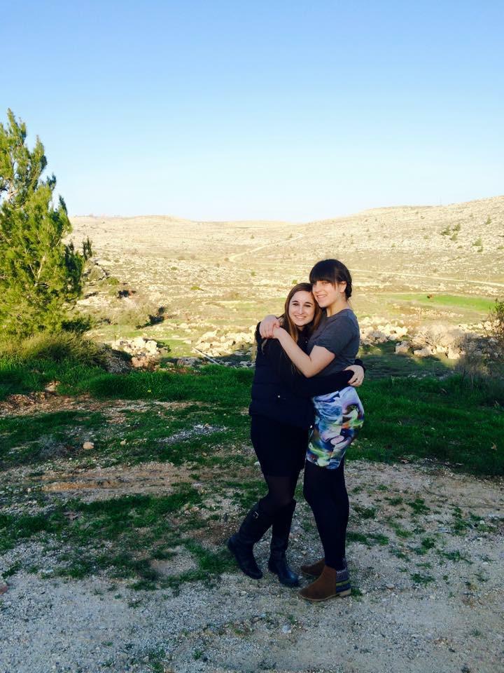 hugging friend