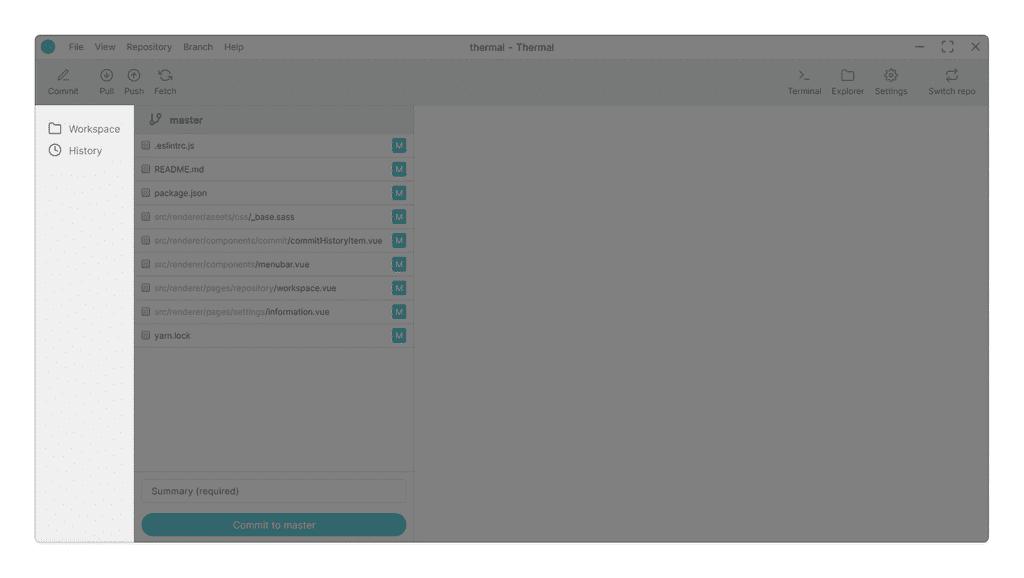 Repository sidebar