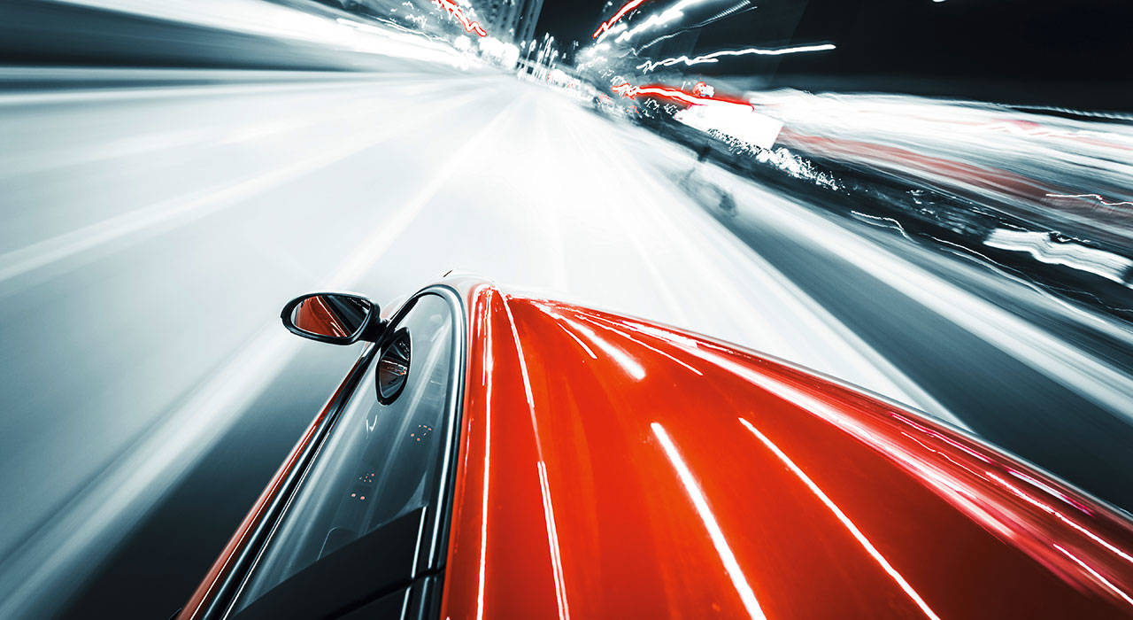 Night trafic-Red-Car