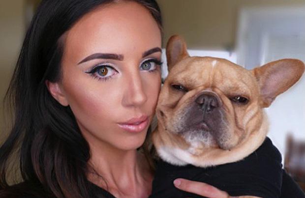 Caroline Presson and her dog Huey