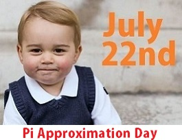 July 22nd is Pi Approximation Day
