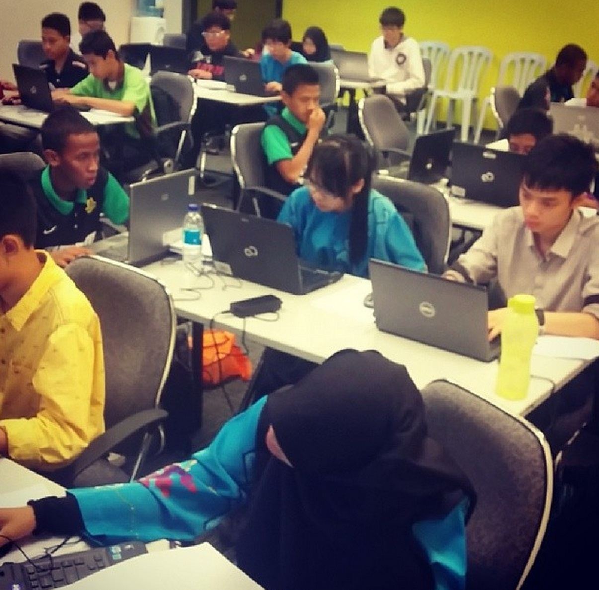 Participants in action at MCO 2014.