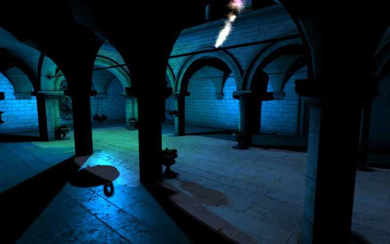 WebGL scene for Sponza Dynamic Shadows demo