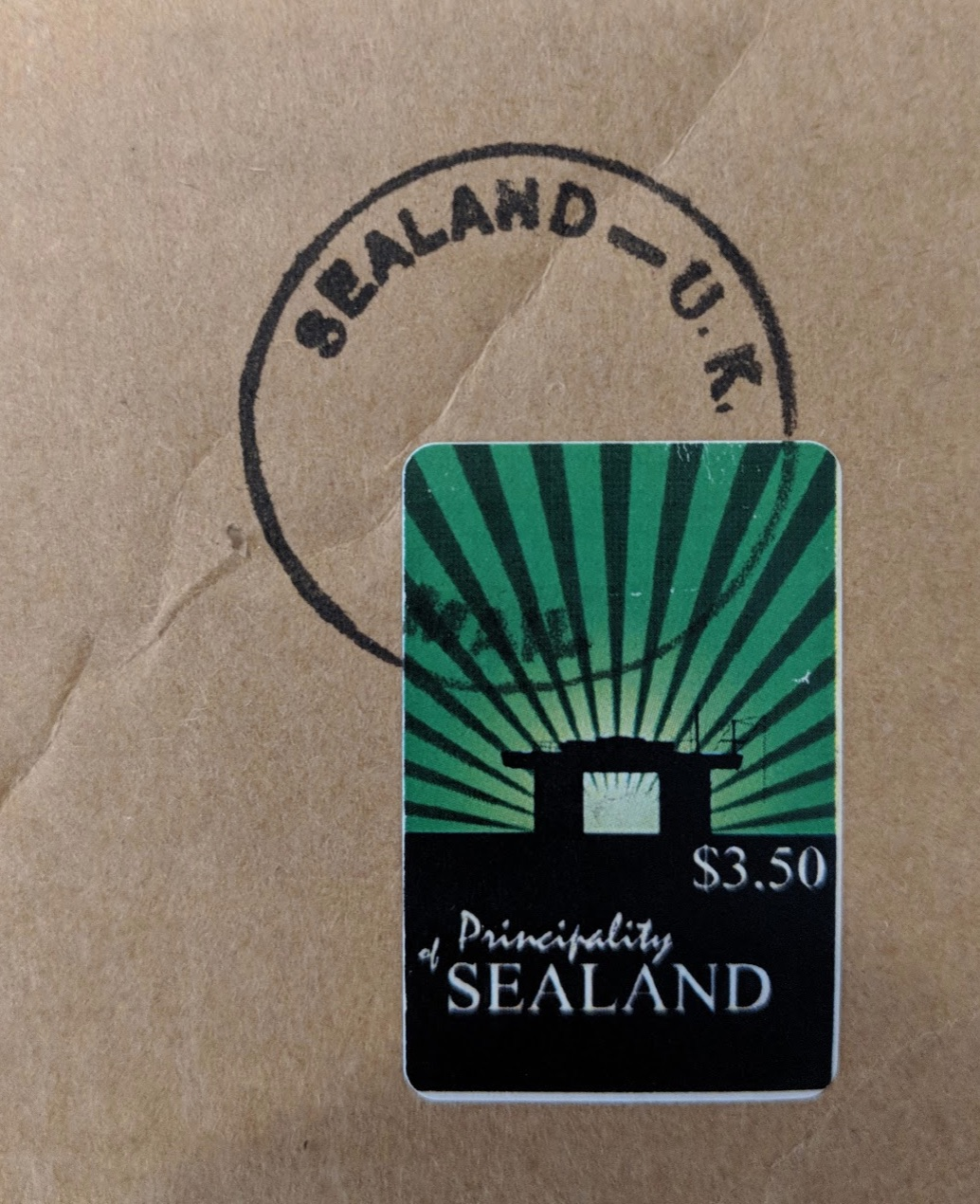 sealand stamp,small