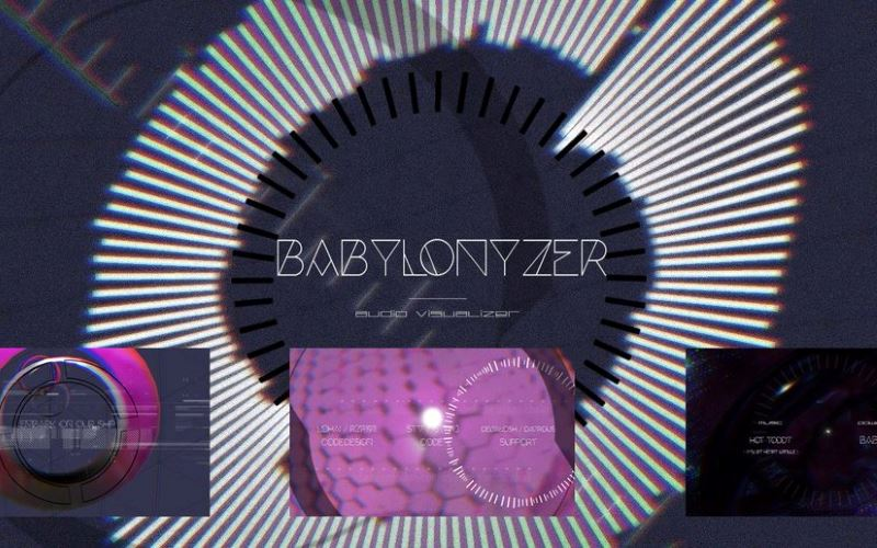 WebGL scene for BABYLONYZER