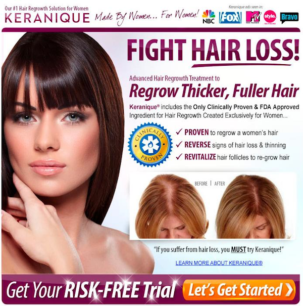Keranique Thinning Hair Solution Reviews