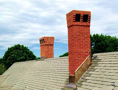 New Dual Chimneys in Hingham, MA.