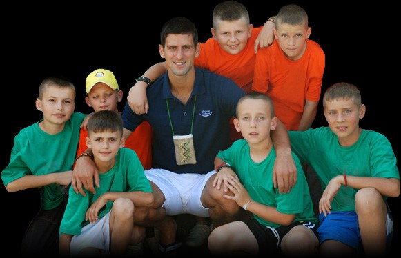 Novak with Kids
