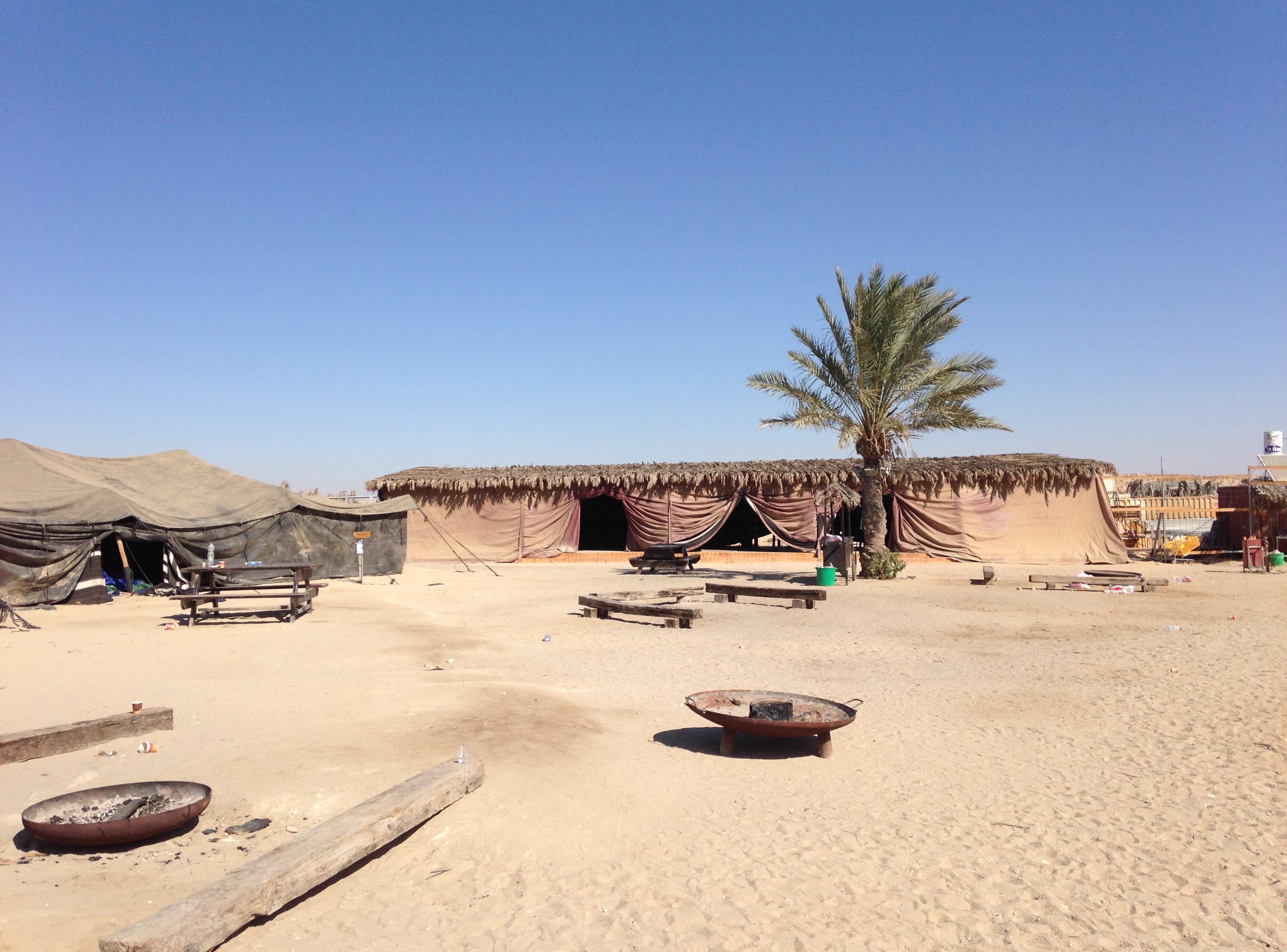 bedouin tents in desert