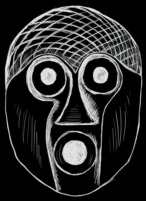Traditional mask artwork