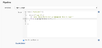 Adding nonsense to my pileline code in a Jenkins job