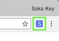 Saka Key logo in browser toolbar