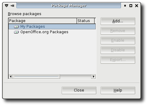 OpenOffice.org Package Manager