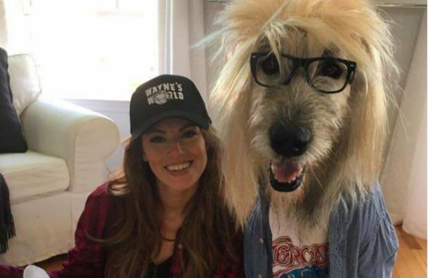Kate Banaszak and her dog Kellan.