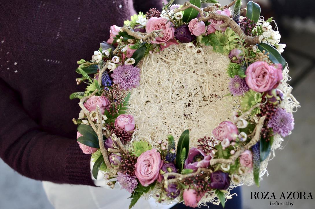 букет в клеевой технике роза азора