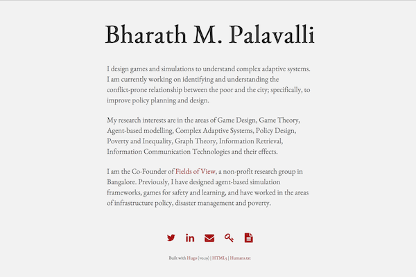 Bharath M. Palavalli