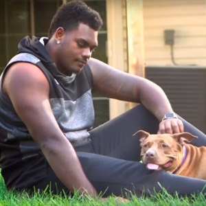 Ronnie Stanley and his dog Lola.
