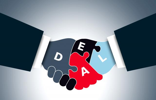 hands shaking on a deal