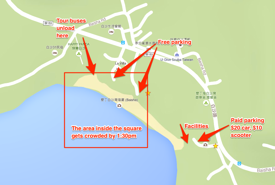 Baishs Beach map