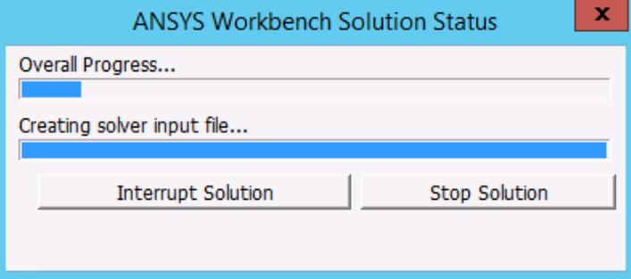 MECH GUI RSM solution status