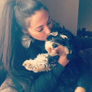 Sammi Sweetheart Giancola and her dog Louie