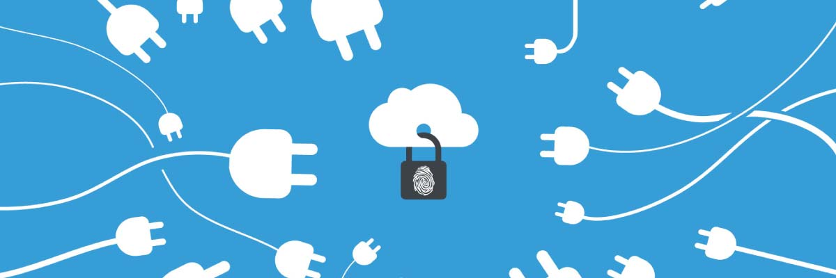 A cloud with a padlock.
