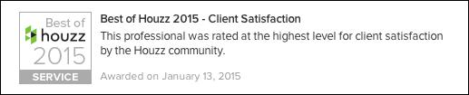 Best Houzz 2015 Client Satisfaction Contractor
