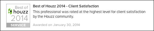 Best Houzz 2014 Client Satisfaction Contractor