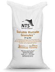 soluble humate granules for flax