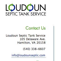 Loudoun Septic Tank Service