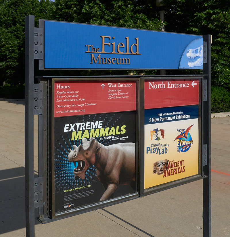 Field Museum Outdoor Signage