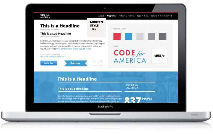 Code for America Web Style Tiles