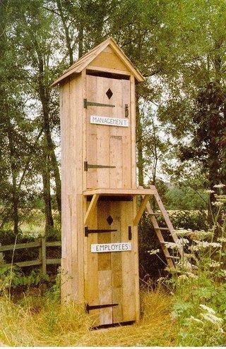 Ara's double-decker outhouse