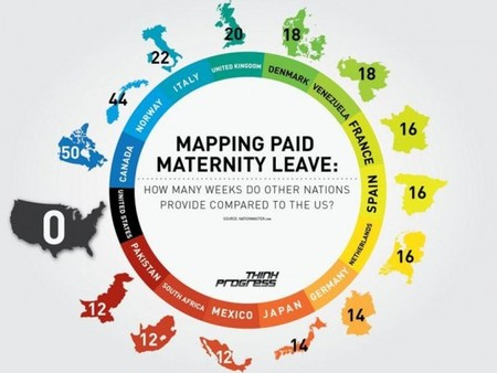 Mapping Paid Maternity Leave Usa Maternity Leave 537x403