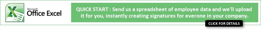 Email Signatures Spreadsheet Upload