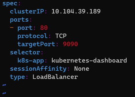 minikube-dashboard-type-loadbalancer