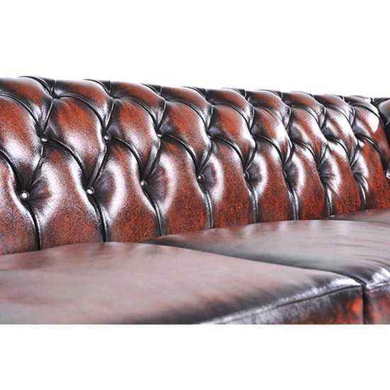 The Original Chesterfield Brighton 3zitsbank Zetel Salon Antiek Bruin 550x550 77 cm