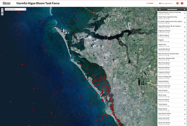 Red Tide mapped using Fulcrum
